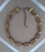 Vintage Gold Tone Mesh Braid Fashion Choker Necklace - $25.00