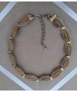 Vintage Gold Tone Mesh Braid Fashion Choker Necklace - $15.00