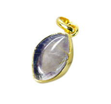 Fashion Gold Plated Rutile Quartz Gemstone Pendant Jewelry FFU23JJP100 - $12.77