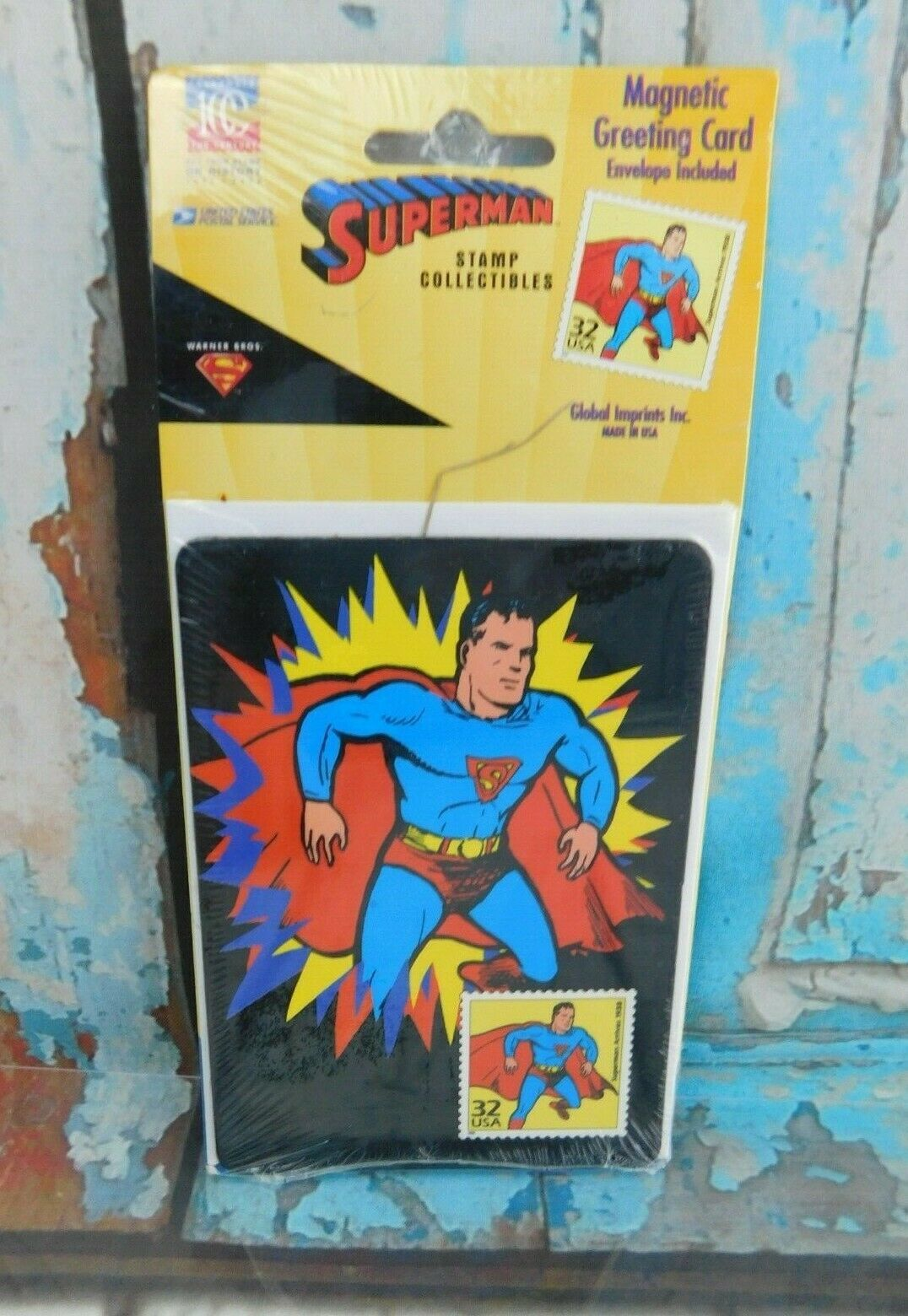 Primary image for DC Superman 1998 USPS Stamp Collectibles Magnetic Greeting Card w/ Envelope