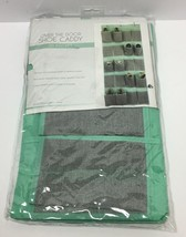 SIMPLIFY OVER THE DOOR SHOE CADDY 20 POCKET MINT GREEN/GRAY, FREE SHIPPING - $76.00