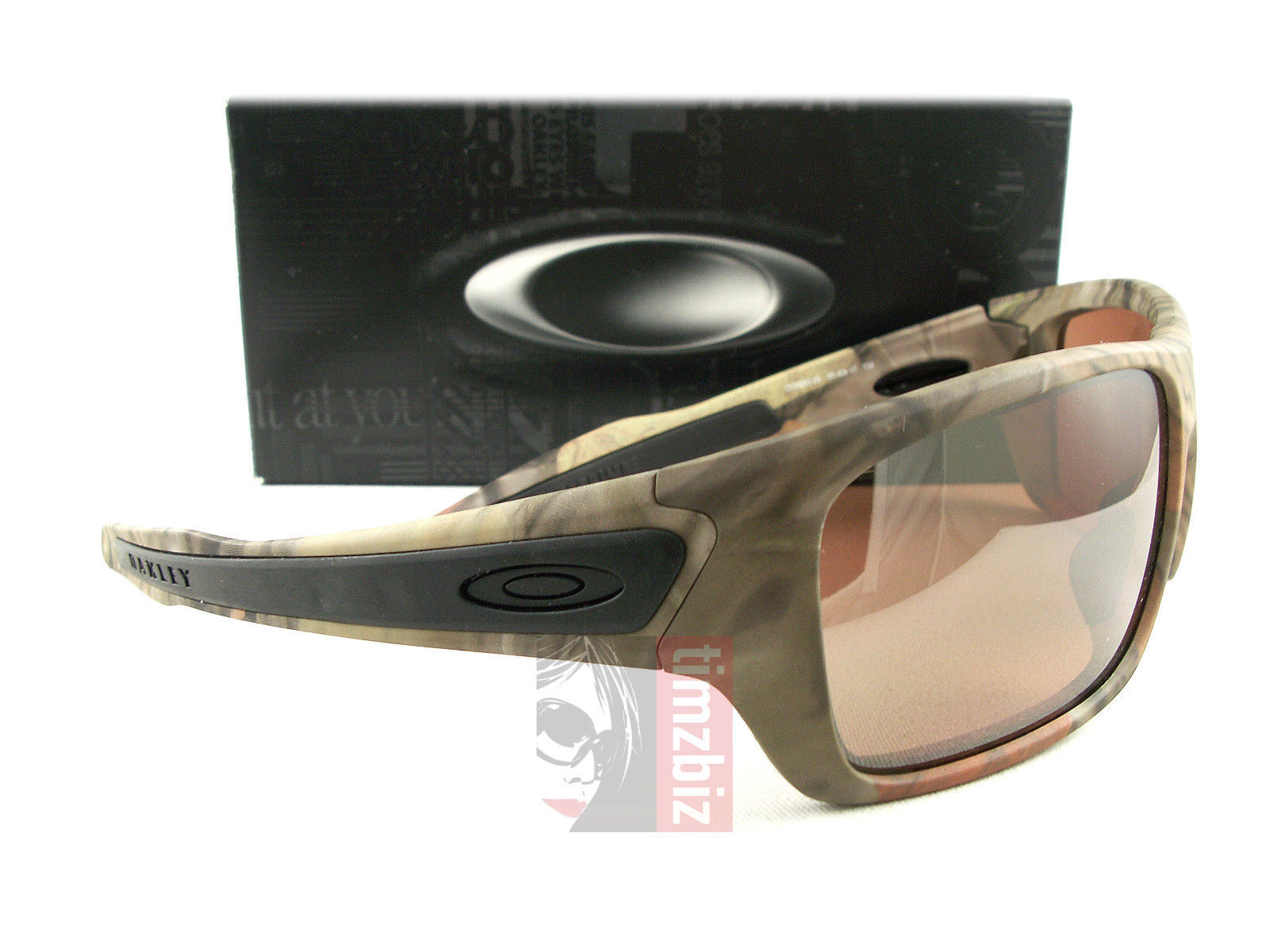 6aa11eb41b 57. 57. Oakley Turbine OO9263-28 Woodland Camo VR28 Black Iridium Sunglasses  Authentic  Oakley ...