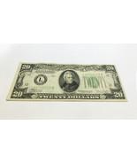 1934 $20 Twenty Dollar Bill Serial #L25766112B - $99.00