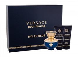 Versace Dylan Blue Pour Femme Perfume 1.7 Oz Eau De Parfum Spray 3 Pcs Gift Set image 3