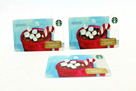 Starbucks Coffee 2015 Gift Card Marshmallow Candy Cane Zero Balance Set ... - $15.03