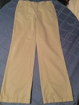 Size 8 Regular Cherokee pants ultimate khaki flat front uniform boys - $5.29