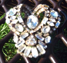 EISENBERG ORIGINAL DRESS CLIP large dress clip with all stones in CLIP - $79.19