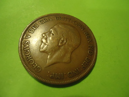1929 BRITISH-ENGLISH Large Cent We Combine Shipping & Handling - $6.00