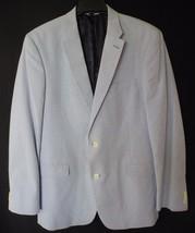 Tommy Hilfiger Sport Jacket Coat Blue White Pinstripe L42 Single Breast ... - $49.49