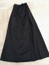 Vintage (80's) Chloe Long Black Silk Satin Evening Skirt (S) - $420.75