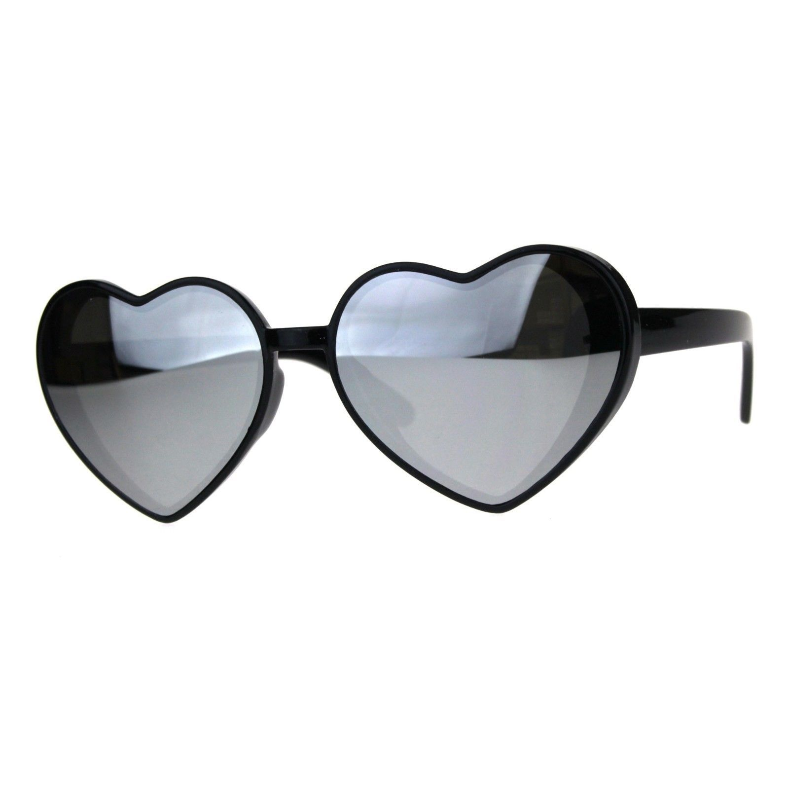Oversized Heart Shape Sunglasses Womens Fashion Mirrored Lens Shades image 5