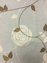 York Hollywood Contemporary Sky Blue Floral Multi-Purpose Fabric 2 yds - $26.60