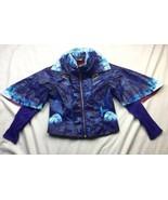 Disney Store Descendants 2 Evie Girls Sz 9 10 Faux Leather Moto Jacket -... - $23.36