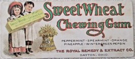 Chewing Gum Sweet Wheat Chewing Gum scarce advertising blotter 1890's - $29.00