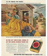 Tobacco 1942 AD Auction Aaron Bohrod Sgn Art Lucky Strike Magazine Adver... - $18.99