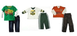 Infant Boy's Long Sleeve Shirt Set with Pants Kids Headquarters Baby Pant Outfit
