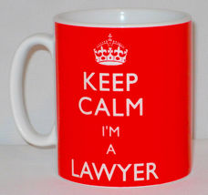 Keep Calm I'm A Lawyer Mug Can Personalise Great Law Solicitor Legal Gift Cup image 3