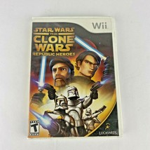 Star Wars The Clone Wars Republic Heroes Nintendo Wii 2009 Complete - $9.95