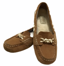 UGG Australia Womens Sz 7 Genoa Moccasin Slippers Chestnut Suede Shoes Uggs - $72.26