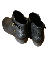 Liz Claiborne Posh Ankle Booties Size 8.5 Medium Black Zippered Side Buckle - $39.00