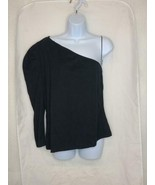 Women's Puff Long Sleeve Off the Shoulder T-Shirt - Who What Wear Black XL - $20.29