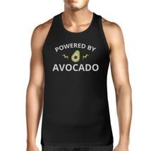 Powered By Avocado Men's Black Cute Graphic Tank Top Unique Design - $14.99+
