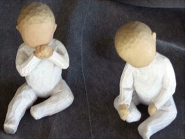 Cute Pair of Collectible WT® Ceramic Baby Figurines - VGC - CUTE LITTLE ... - $39.59