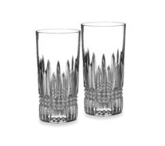 WATERFORD LISMORE DIAMOND HIGHBALL CRYSTAL GLASSES SET OF 2 NIB - $74.79