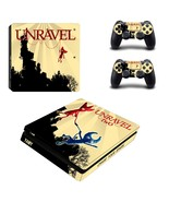 Unravel Two ps4 slim skin decal for console and controllers - $20.00