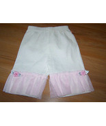 Infant Baby Size 3-6 Months Off White Pants with Pink Tulle Accent Sprin... - $14.00