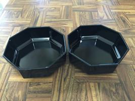 2 Arcoroc France Black Octime (Novoctime) Octagon Salad Bowls ~ RETIRED ... - $15.84