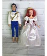 VTG 1997 Disney The Little Mermaid Wedding Party Set Ariel Prince Eric D... - $54.44