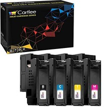 Cartlee Set of 4 Compatible High Yield Laser Toner Cartridges Replacement for Xe