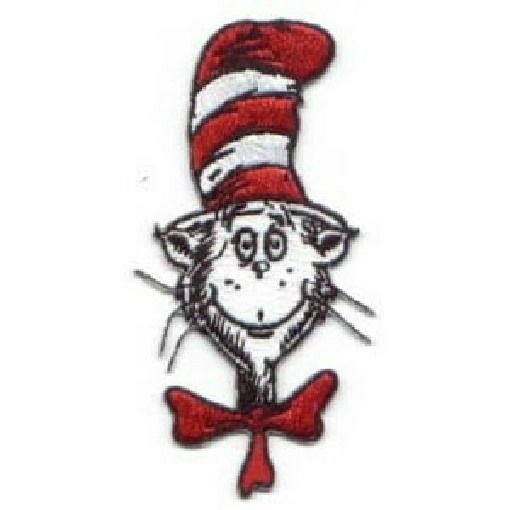 Primary image for Dr. Seuss' The Cat In The Hat Animated TV Show Head and Hat Patch, NEW UNUSED