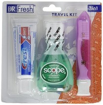 Dental Travel Kit - Crest Toothpaste - Scope - Toothbrush with Case - $5.56