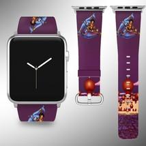 Aladdin Disney Apple Watch Band 38 40 42 44 mm Fabric Leather Strap 01 - $24.97