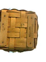 Longaberger Easter Basket Lining plastic liner handwoven dated 1998 image 4