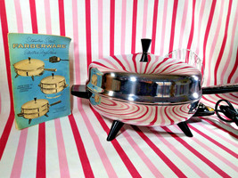 Gorgeous Mid Century Farberware Stainless Flying Saucer Electric Frying ... - $68.00