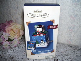 HALLMARK ORNAMENT POP GOES THE SNOWMAN VISKER 2003 MIB - $16.79