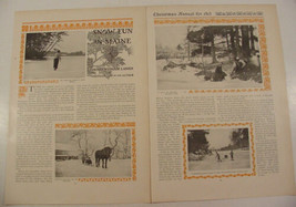 1913 Maine Snow Fun Magazine Article by Henry Wysham Lanier with 6 Photos - $9.99