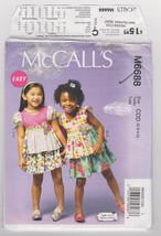 Pattern McCalls 6688 Girls Size 6 7 8 Tops Skirt Easy, 2013 - $3.99