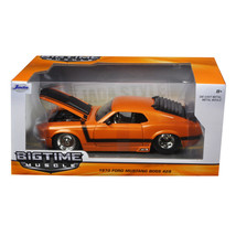 New 1970 Ford Mustang Boss 429 Orange 1/24 Diecast Model Car by Jada 98030 - $32.69