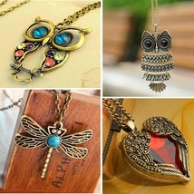 2019 New Fashion Statement Owl Crystal Necklaces Pendants For Women As A... - $7.89