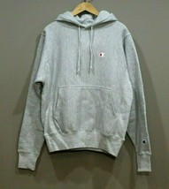 Champion Men's  Reverse Weave Pullover Hoodie NEW AUTHENTIC Grey GF68 Y0... - $48.49