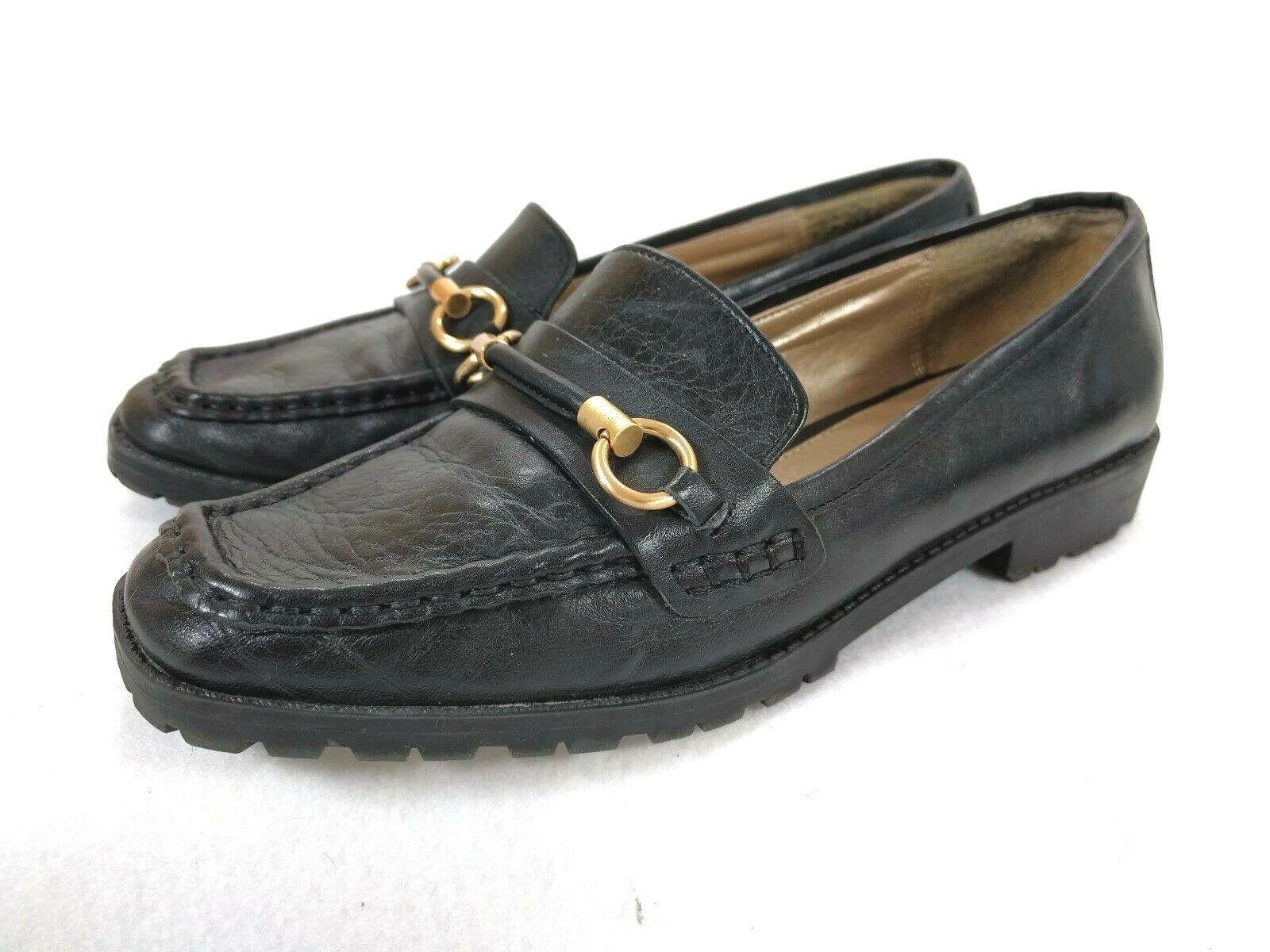 Liz Claiborne New York Black Women's  Horse Bit Loafers Non Slip Shoes Size 7.5M - $13.98