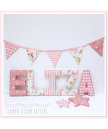 Fabric Letters Personalised Initial Name Baby Room Nursery Gi