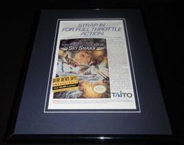 Sky Shark 1989 Nintendo NES Framed 11x14 ORIGINAL Vintage Advertisement ... - $22.55