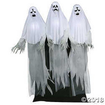 Haunting Ghost Trio Animated Halloween Decoration - $321.99