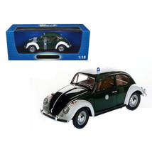 1967 Volkswagen Beetle Kafer Stuttgart Germany Police Car 1/18 Diecast Model Car - $81.46