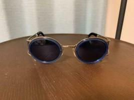 Jean Paul Gaultier Vintage Sunglasses Blue Steampunk Goggles Model Rare ... - $436.58